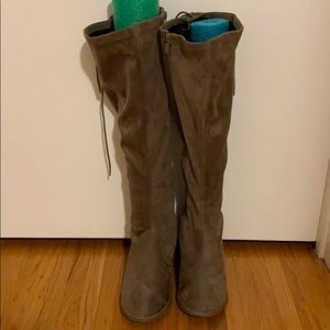 Torrid Wide Calf Lace Up Knee High Boots - Size 8